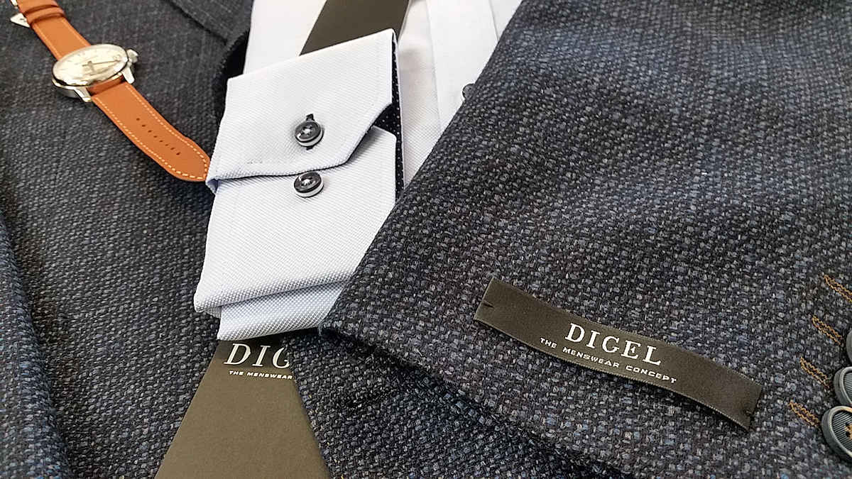 Herren Sakko von Digel und Hemd von Venti