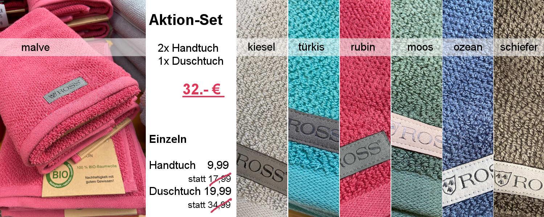 Aktions-Angebot mit Tücheern von Ross
